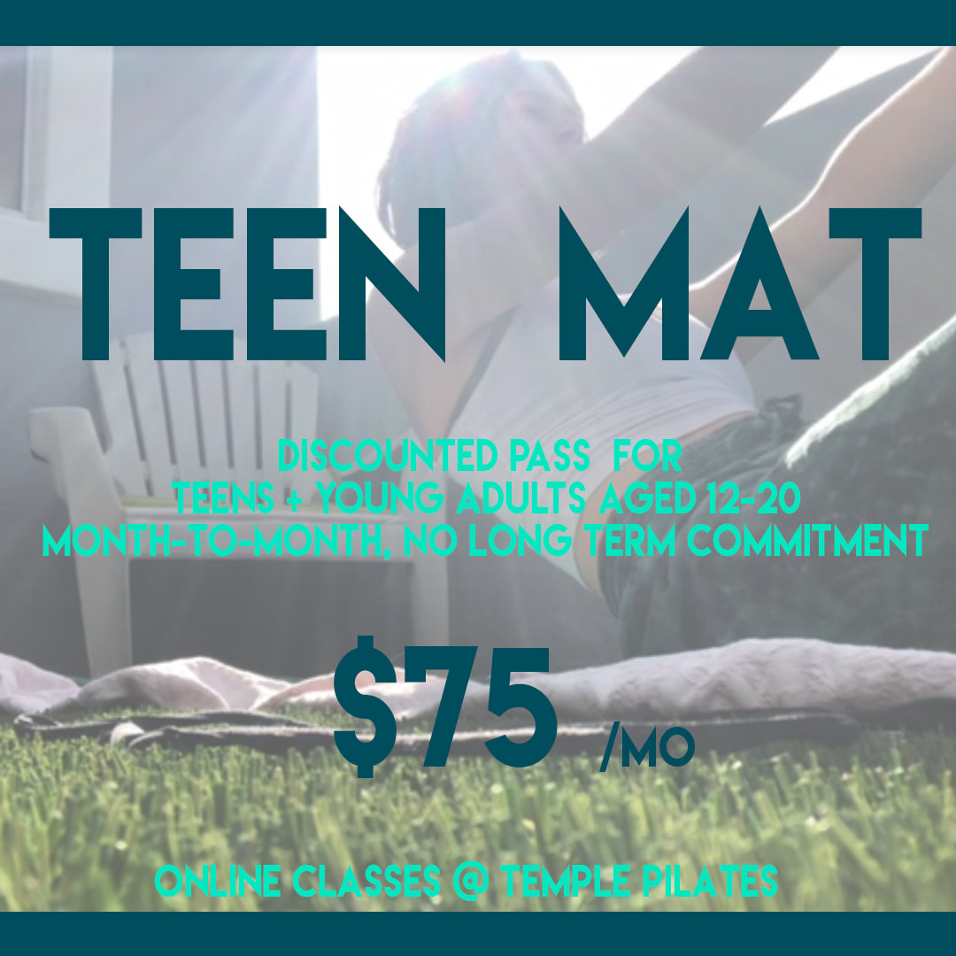Temple Pilates Special Offer for Teens