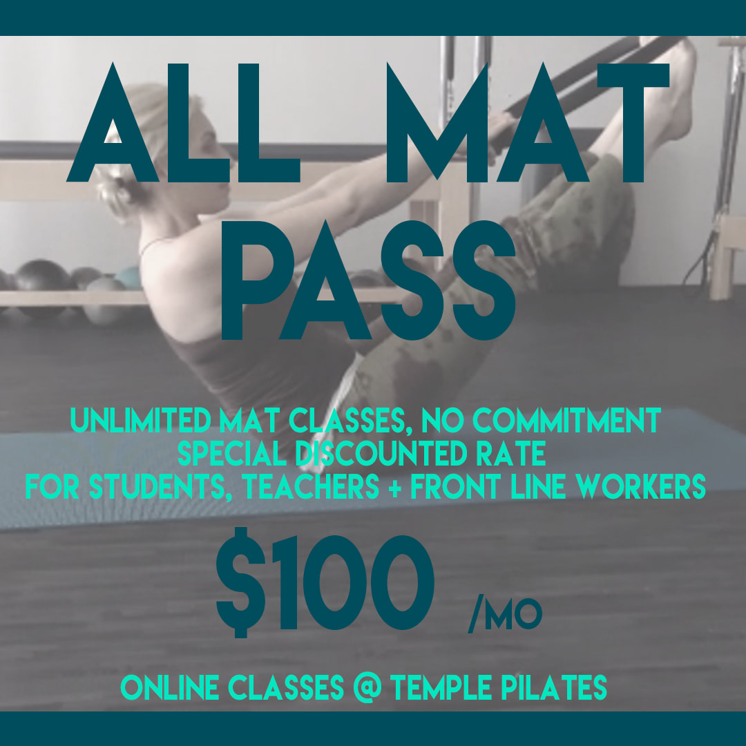 Temple Pilates Discount Teachers, Students, Front Line Workers